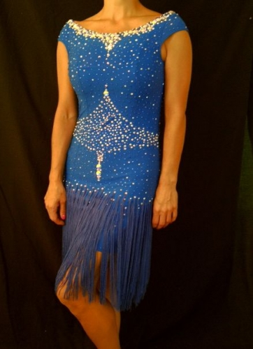 ROYAL SAPPHIRE FRINGE BY MIMI G DESIGNS COUTURE COLLECTION 2