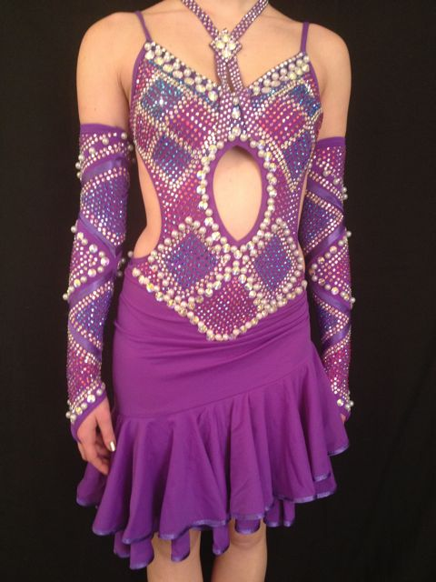 Dress 4 Dance Purple Pearl Latin